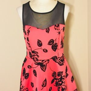 TRIXXIE- Black & Watermelon  Dresses-L